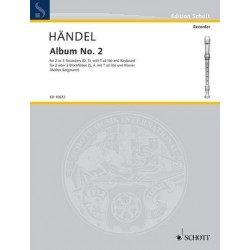 Händel, Georg Friedrich: Second Album : for sa recorders and piano score and recorderscore