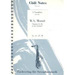 Mozart, Wolfgang Amadeus: Andante aus der Sinfonie Nr.40 für Saxophonensemble (SATBar)