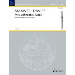 Maxwell Davies, Sir Peter: Mrs. Johnson's Tunes : for 3 recorders (ssa) and piano