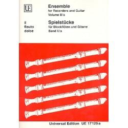 Spielstücke Band 2 A : für 1-3 Blockflöten und Gitarre Partitur und Stimmen