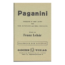 Lehár, Franz: Paganini : Libretto (dt)