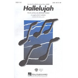 Cohen, Leonard: Hallelujah : for mixed chorus and piano score