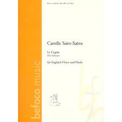 Saint-Saens, Camille: Le Cygne für Englisch Horn und Harfe Stimmen