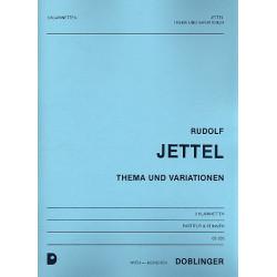 Jettel, Rudolf: Thema und Variationen : für 3 Klarinetten Partitur und Stimmen