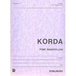 Korda, Viktor: 5 Bagatellen . für 2 Hörner Spielpartitur