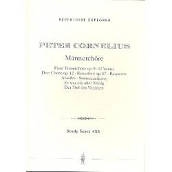 Cornelius, Peter: Männerchöre (mit und ohne Begleitung) Studienpartitur Repertoire explorer