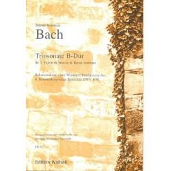 Bach, Johann Sebastian: Sonate B-Dur : für 2 Violen da braccio und Bc Partitur und Stimmen