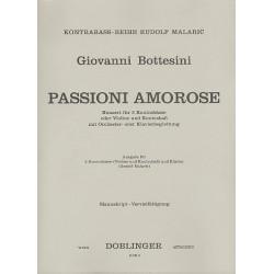Bottesini, Giovanni: Passione amorose : für 2 Kontrabässe und Klavier Partitur und Stimmen