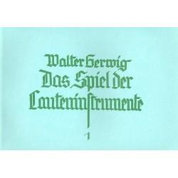 Gerwig, Walter: Das Spiel der Lauteninstrumente : Die Lehre des einstimmigen Spiels