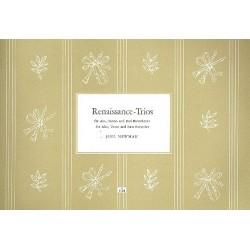 Renaissance-Trios : für 3 Blockflöten (ATB) Partitur und Stimmen