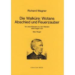 Wagner, Richard: Wotans Abschied und Feuerzauber : für 2 Klaviere zu 4 Händen