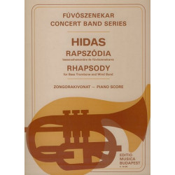 Hidas, Andras: Rhapsody : for bass trombone and wind band score