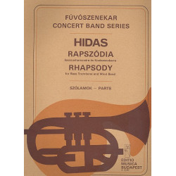 Hidas, Andras: Rhapsody : for bassd trombone and wind band score