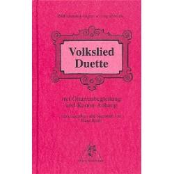 Volkslied-Duette mit Gitarrenbegleitung und Kanon-Anhang