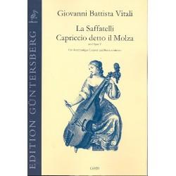 Vitali, Giovanni Battista: La Saffatelli (Sonate) und Capriccio detto il Molza aus op.4 für 4stimmiges Consort und Bc