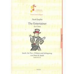 Joplin, Scott: The Entertainer : f├╝r Piccolofl├Âte, 5 Fl├Âten und Schlagzeug Partitur und Stimmen