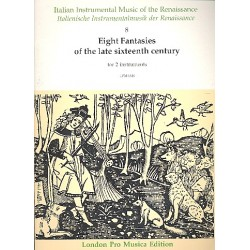 8 Fantasien des späten 16.Jhd. : für 2 Instrumente Partitur