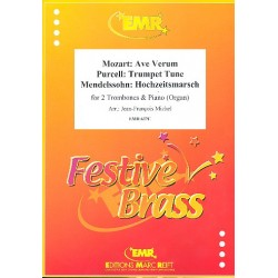 Festive Brass : for 2 trombones and piano (Organ)