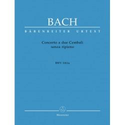 Bach, Johann Sebastian: Concerto a due cembali senza ripieno BWV1061a : für 2 Cembali Partitur