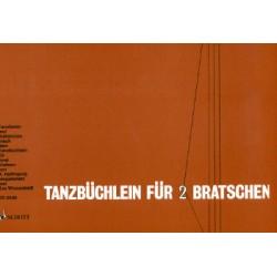 Tanzbüchlein : Tanzlieder und Volkstänze für 2 Bratschen Partitur