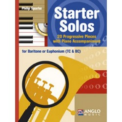 Sparke, Philip: Starter Solos (+CD) : for baritone (euphonium) and piano (treble celf and bass clef)