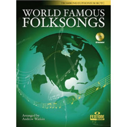 World famous Folksongs (+CD) : for trombone or euphonium (treble clef and bass clef)