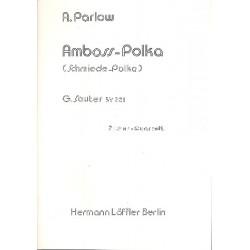Parlow, Albert: Amboß-Polka : für 4 Konzert-Zithern (Zitherorchester), Stimmen