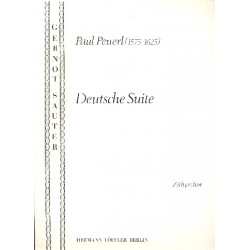 Peuerl, Paul: Deutsche Suite : für 4 Konzert-Zithern (Zitherorchester), Stimmen