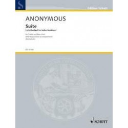 Anonymus: SUITE FOR TREBLE AND BASS VIOLS AND HARPSICHORD SCORE+PARTS DOLMETSCH, ARNOLD, ED