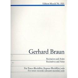 Braun, Gerhard: Rezitative und Arien für Tenorblockflöte solo