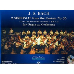 Bach, Johann Sebastian: 2 Sinfonien aus der Kantate BWV35 (+CD) : für Orgel und Orchester Orgelstimme