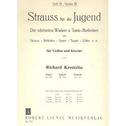 Strauß, Johann (Sohn): Strauss für die Jugend Band 3 : Violine 3 solo