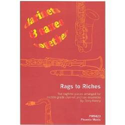 Rags to Riches 5 Stücke für 4 Klarinetten und 4 Saxophone ( Ensemble ) Partitur und Stimmen