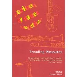 Treading Measures für Klarinetten und Saxophone (4-stimmiges Ensemble) Partitur und Stimmen