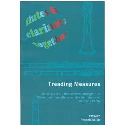 Treading Measures : für Flöten und Klarinetten (4-stimmiges Ensemble) Partitur und Stimmen