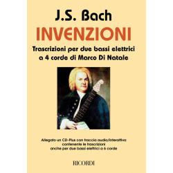 Bach, Johann Sebastian: Invenzioni (+CD) : transcrizioni per 2 bassi elletrici, partitura