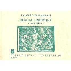 Ganassi, Silvestro: Regola rubertina : Schule für Viola da gamba und Laute (englische Ausgabe)