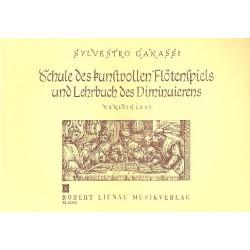 Ganassi, Silvestro: La Fontegara : Schule des kunstvollen Flötenspiels und Lehrbuch des Diminuierens