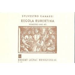 Ganassi, Silvestro: Regola rubertina : Schule für Viola da gamba und Laute deutsche Ausgabe