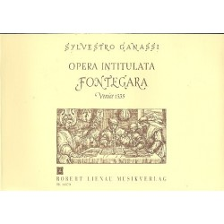 Ganassi, Silvestro: La fontegara : Schule d.kunstvollen Fl├Âtenspiels Englische Ausgabe