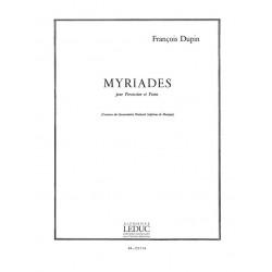 Dupin, Francois: Myriades : f├╝r Percussion und Klavier Stimmen