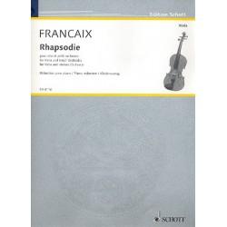 Francaix, Jean: Rhapsodie : für Viola und kleines Orchester Klavierauszug