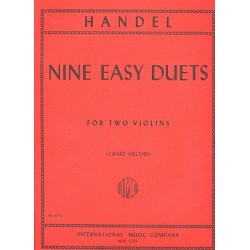 Händel, Georg Friedrich: 9 easy duets : for 2 violins 2 scores