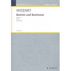 Mozart, Wolfgang Amadeus: Bastien and Bastienne opera in 1 act vocal score (en)