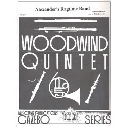 Berlin, Irving: Alexanders's Ragtime Band for flute, oboe, clarinet, horn in F and bassoon score and parts