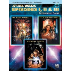Star Wars Episodes 1-3 (+CD): for cello and piano