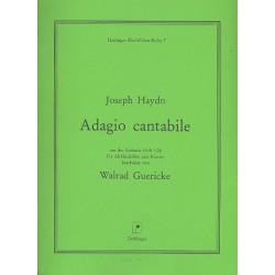 Haydn, Franz Joseph: Adagio cantabile aus der Sinfonia Hob.I:24 : für Altblockflöte und Klavier