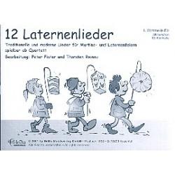 12 Laternenlieder : für 4-stimmiges Bläser-Ensemble 1. Stimme in Es (Altsax, Klarinette)