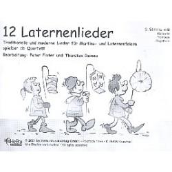 12 Laternenlieder : für 4-stimmiges Bläser-Ensemble 2. Stimme in B (Klarinette, Trompete Flügelhorn)