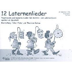 12 Laternenlieder : für 4-stimmiges Bläser-Ensemble 2. Stimme in Es (Altsax, Horn in Es)